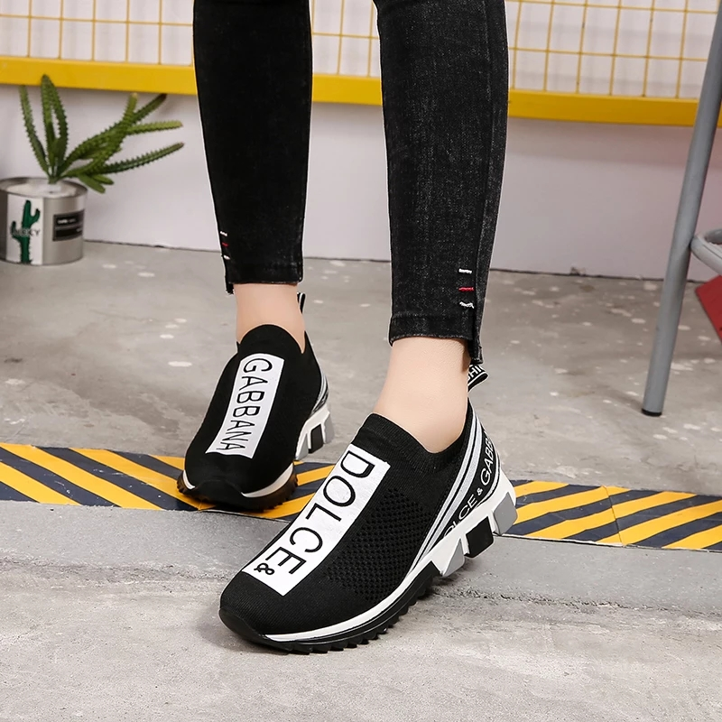 b6345041d32 New Women Sneakers 2019 Spring Slip-on Mesh Breathable Casual Shoes  Comfortable Walking White Sneakers